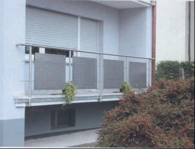 Ограждение из нержавеющей стали со стеклом, ОГ-7 Арт: ОГ-7