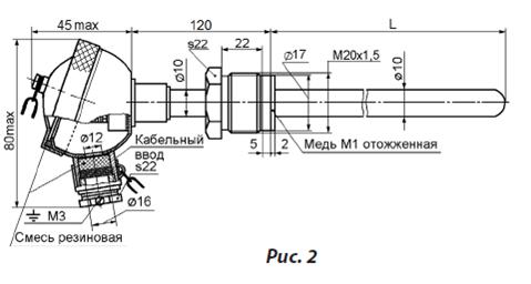 Схема одинарного термоэлемента