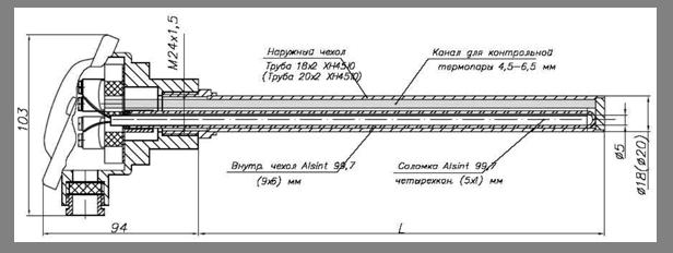 Рисунок 10. ТПП/1-0679 с контрольным каналом S=4,5-6,5мм
